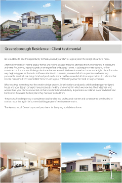 Greensborough Testimonial